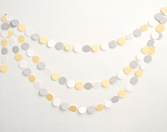 Paper Garland - Baby Shower Decoration - Gender Neutral Shower - 14ft