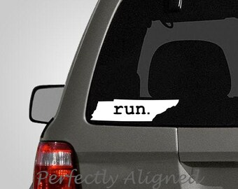 Tennessee RUN Home State Vinyl Decal