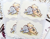 Classic Winnie the Pooh and Friends Sticker (8) Envelope Seals-Pooh Stickers-Pooh Birthday-Pooh Baby Shower-Vintage Pooh Party-Favor Sticker