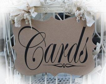 Cards Sign- Kraft brown Cardstock for Cards birdcage or Cards wedding box.