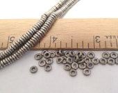 "Silver African Heishi Spacer Beads - 4mm - 16"" Strand"