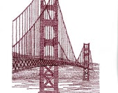 San Francisco Typographic Art Print / handwritten
