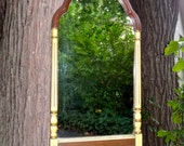 Federal Mirror, 15 x 28 Wood Mirror, Oblong Mirror, Arched Mirror, Maple Furniture, Traditional, Federal Decor, Maple Mirror with Arch