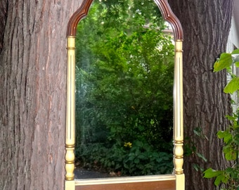 Federal Mirror, Wood Mirror, Oblong Mirror, Mirror with Arch, Maple Mirror, Furniture, Traditional, Federal Decor, Mudroom, Foyer, CasaKarma