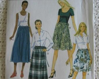 Butterick  Misses Womens Wrap Skirt Sewing Pattern B5787 UC Uncut FF Size 8 10 12 14 16