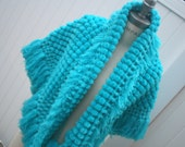 Women Ponchos Wraps Shawls  Blue Poncho Brithday Gift for Wife Unique Handmade Pom Pom Scarfs Christmas Gift Women Scarves  - by PiYOYO