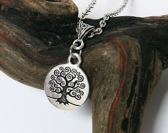 Tree of Life Jewelry, Tree of Life Necklace, Birthday Gift for Mom, Silver, Spiritual Jewelry