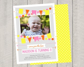 Banner Birthday Invitation - Custom Birthday Invite