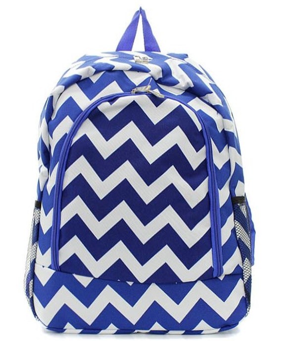 Chevron backpack school bag with embroidery monogram