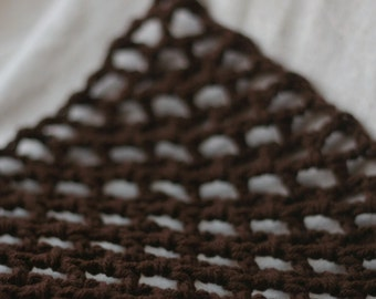 "Mini ""Lovey Corral"" - Toy Hammock - Stuffed Animal Organizer in Chocolate Brown - Quick Turnaround"