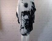 Yin Yang Tie Dye Kimono Cardigan Cape Swimsuit Coverups Boho womens yoga clothing festival
