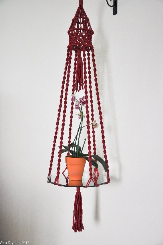 macrame hanging table crafted macrame plant hanger hanging table holder 1668