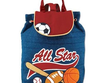 Personalized All Star Backpack, Stephen Joseph Signature backpack