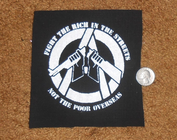 Fight the Rich, Not the Poor - Punk Patch
