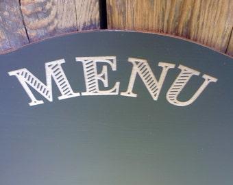 "17.5x14"" Chalkboard Engraved Menu Wedding Sign Chalk Board Table Centerpiece Wedding Seating Sign"