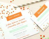Party Confetti Invitation - Non Traditional Wedding- Printables DIY Print at Home