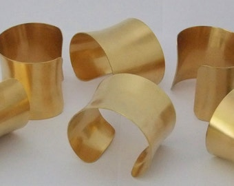 Set of 6 Concaved Brass Bracelet Cuff Blanks For Jewelry Making 2 inch