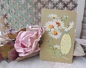 Pretty Edwardian Era Postcard with Daisies