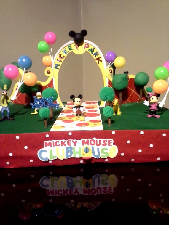 Mickey Mouse Clubhouse Park Birthday Centerpiece