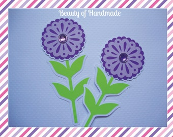 Floral Embellishments Paper Flowers Scrapbooking