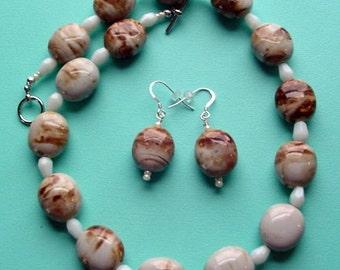 """17"""" Necklace & Pierced Earrings Set"""