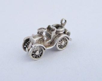 Vintage Sterling Silver Veteran Car Opening Charm or Pendant