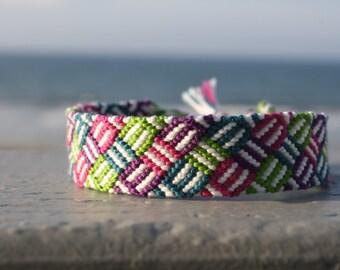 Friendship Bracelet - Royal Berry Weave