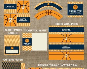 Basketball Printable Party - Basketball Birthday - Basketball Decorations - Sports Printable - Sports Birthday - boy birthday