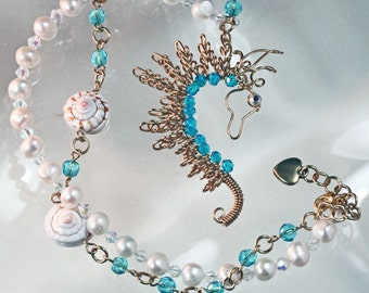 Wire Wrapped Seahorse Necklace