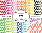Ikat 20 Piece Digital Scrapbook Paper Mega Pack - Personal and Commercial Use