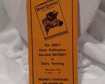 Vintage Hoard's Dairyman Wisconsin Cheesehead Advertising  Ad