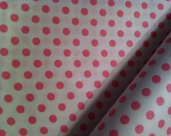 Cotton Fabric / Pink Cotton Fabric / Pink Polka Dot Fabric / Vintage Fabric / Polka Dot Fabric / Vintage Cotton Fabric / 36 Inch Width