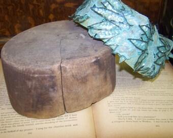 Hat Form Wooden Hat Mold Vintage Hat Form Milliner Hat Form