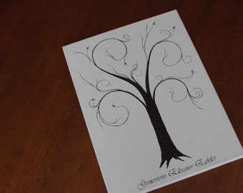 Family or Wedding Thumbprint Tree
