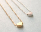 Tiny Heart Necklace 14K Gold Filled Chain Sterling Silver Chain 17 18 Inches Dainty Small Bridesmaid Gift