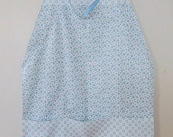 """Light Blue/White Square """"Towel"""" Apron"""