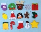Set of 24  Handmade Advent Calendar Ornaments