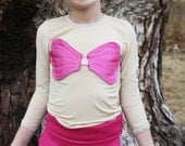 Magenta Hot Pink Seashell Bra Top Fairy Tale Mermaid Costume Bandeau