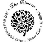 custom address stamp,SELF INKING Return address stamp,cute personalized stamp,wedding stamp,family,tree,R30