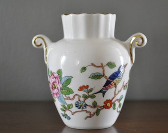 """A sweet and Lovely Small Vase by Ansley in the """"Pembroke"""" pattern."""