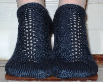 CUSTOM: Handknit Ankle Socks, Openwork Pattern