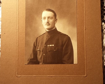 Vintage Photograph Military Man 3 1/2 X 5 inches