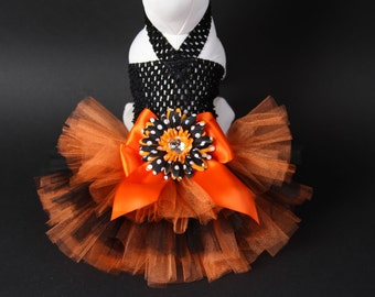 HALLOWEEN Dog Tutu Dress -- Devilish Daisy