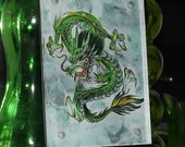 Dragon Divintity Hand Painted Glass Art