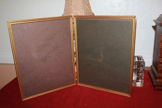 picture frame vintage 8 x 10 double frame folds desk or shelf. Black Bedroom Furniture Sets. Home Design Ideas