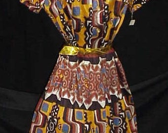 1960 Mod Dress New With Tags     Sz  M     Mad Men Style Extraordinaire