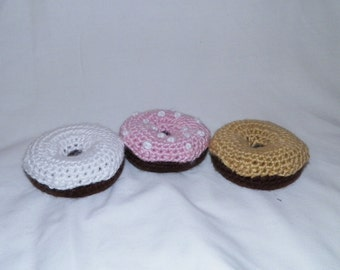 Set of 3 Crochet Donuts