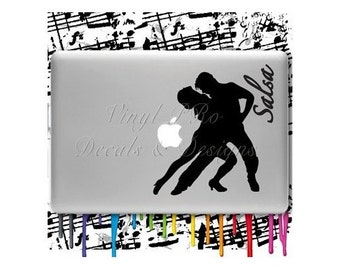 Salsa Dance Decal Macbook Latin Rumba Ballroom Dancer Performer Bailando Sticker