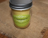 Beeswax Candle in glass Jar - cinnamon, 8 oz. Organic Beeswax from Local Supplier