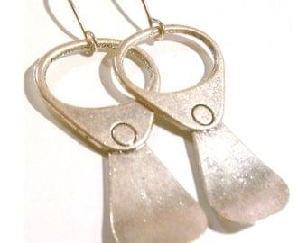 Pull Tab (Aluminum can tab, 80's) Earrings